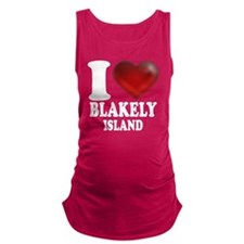 I Heart Blakely Island Maternity Tank Top