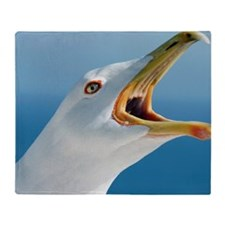 Herring gull Throw Blanket