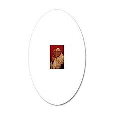 Pope John Paul II 20x12 Oval Wall Decal