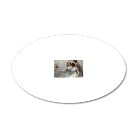 76 20x12 Oval Wall Decal