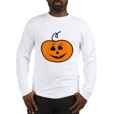 Carved pumpkin head design Long Sleeve T-Shirt