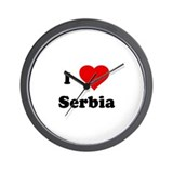 I Love Serbia Wall Clock