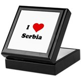 I Love Serbia Keepsake Box