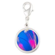 Optical fibres Silver Round Charm
