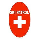 Ski Patrol Oval Decal