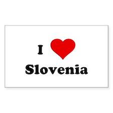 I Love Slovenia Rectangle Decal