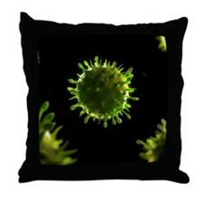 Virus, conceptual image Throw Pillow