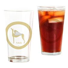 FABIOLA ANGEL GREY ROUND ORNAMENT Drinking Glass