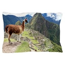 Ancient Inca lost city Machu Picchu, P Pillow Case