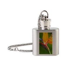 Bird of Paradise Flower #1 Flask Necklace