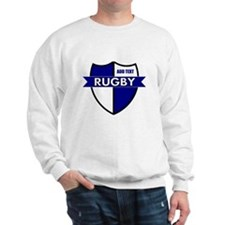 Rugby Shield White Blue Sweatshirt