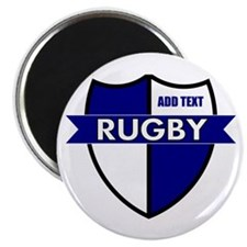 """Rugby Shield White Blue 2.25"""" Magnet (100 pack)"""