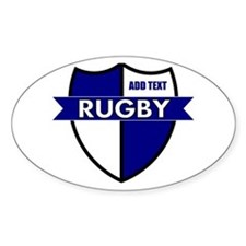 Rugby Shield White Blue Decal