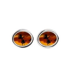 Hawaii Sunset with Palm Trees Cufflinks