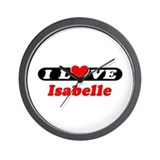 I Love Isabelle Wall Clock
