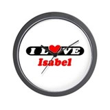 I Love Isabel Wall Clock