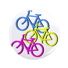 """Bicycles 3.5"""" Button"""