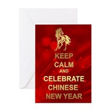 Keep Calm It's Chinese New Year Greeting Card