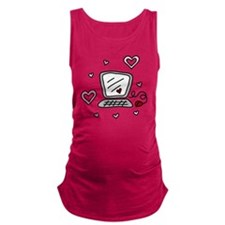 Computer Love Maternity Tank Top
