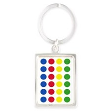 Twister Dots Portrait Keychain