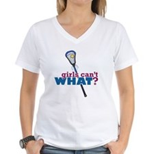 Lacrosse Stick Blue Shirt