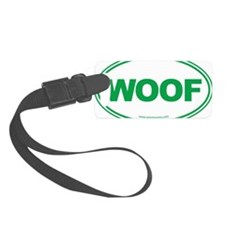 WOOF! Green Luggage Tag
