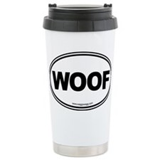 WOOF! Black Travel Mug