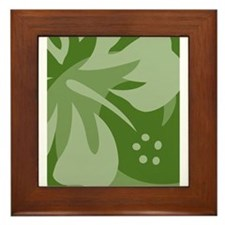 Cute Wave hound Framed Tile