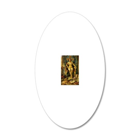 52 20x12 Oval Wall Decal