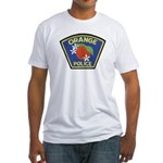 Orange Police Fitted T-Shirt