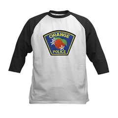 Orange Police Kids Baseball Jersey