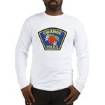 Orange Police Long Sleeve T-Shirt