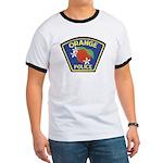 Orange Police Ringer T