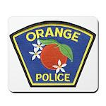 Orange Police Mousepad