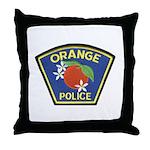 Orange Police Throw Pillow