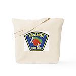 Orange Police Tote Bag