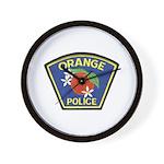 Orange Police Wall Clock