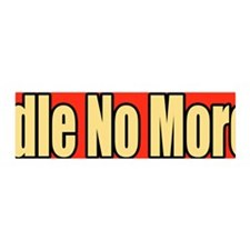 Idle No More Bumper Sticker Wall Decal