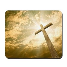 Stock Photo: cross against the sky Mousepad