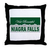 Visit Beautiful Niagra Falls Throw Pillow