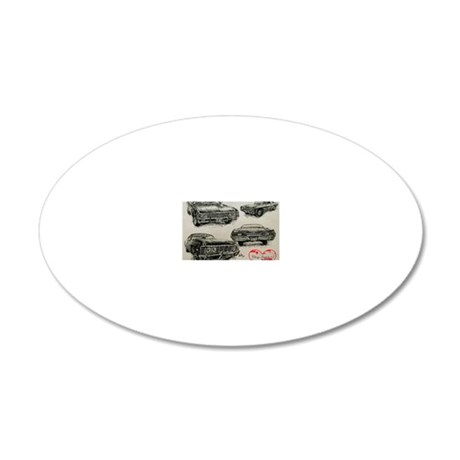 '67 Chevy Impala 20x12 Oval Wall Decal
