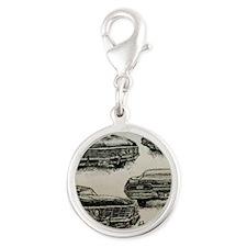 '67 Chevy Impala Silver Round Charm