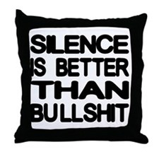 slience3 Throw Pillow