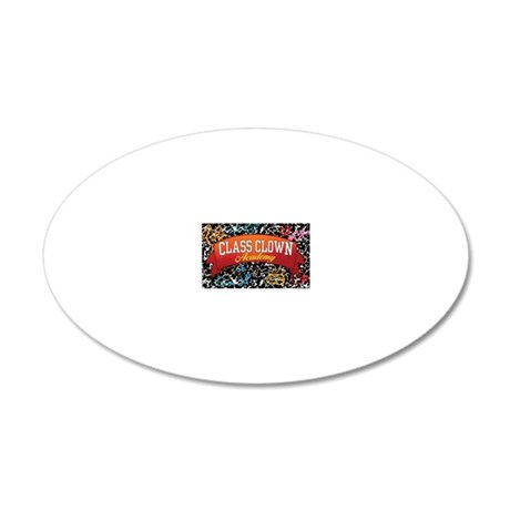 sticker rectangle 20x12 Oval Wall Decal