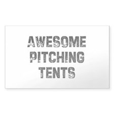 Awesome Pitching Tents Rectangle Decal