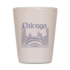 Chicago_10x10_ChicagoBeanSkylineV1_Blue Shot Glass