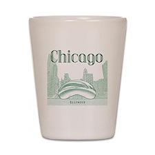 Chicago_10x10_ChicagoBeanSkylineV1_Gree Shot Glass