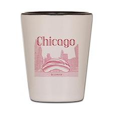 Chicago_10x10_ChicagoBeanSkylineV1_Red Shot Glass