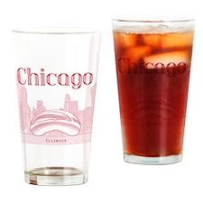 Chicago_10x10_ChicagoBeanSkylineV1_ Drinking Glass