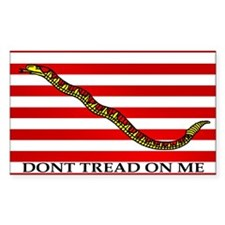 Don't Tread on Me (Gadsden, Rectangle Decal